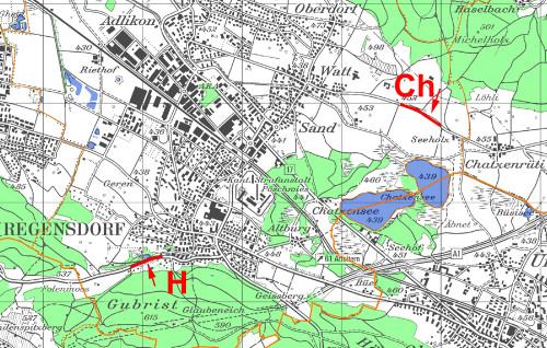 Regensdorf Amphibien Ü-Karte